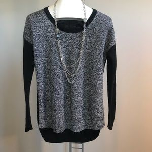 Madewell Nubby Two Tone Sweater Black/Gray EUC Sm